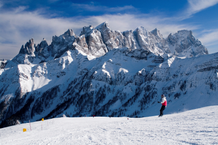 Snowboarding Europe Alps Italy